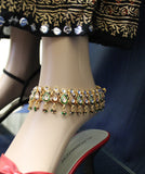 Anklet Payal 3110 Golden Anklet Indian Payal Shieno Sarees