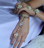 Haath Punja Finger Rings Indian Bridal Shieno Pleasanton