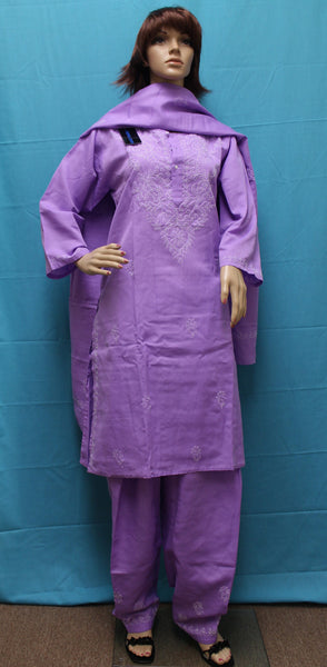 Suit 3190 Purple Cotton Salwar Kameez Dupatta Shieno Sarees