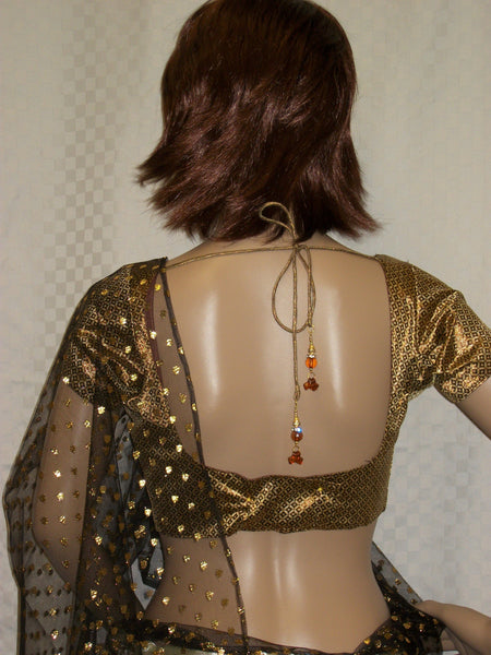 Choli 3414 Golden Brown Saree Blouse Medium Choli Shieno Sarees San Francisco bay area