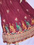 Skirt 3439 Cotton Printed Long Skirt L Large Size Shieno Sarees