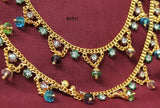 Anklet Payal 3551 Golden Multi Color Anklet Payal Shieno Sarees