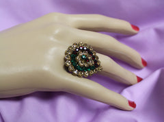 Finger Ring 3579 Golden Zircons Shieno Sarees