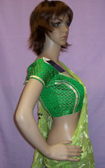 Choli 3725 Green Saree Blouse Medium Choli Shieno Sarees