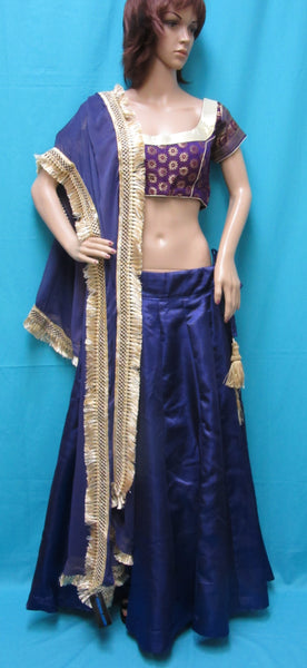 Lehenga 4081 Purple Silk Indian Lehenga Choli Shieno Sarees