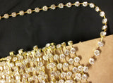 Trims 4482 Crystal Gold Lace Craft Trim Embellishment Shieno Sarees