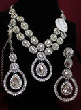 Necklace 4522 Set Polki Silver Indian Designer Shieno Sarees