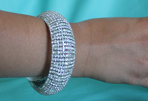 Bangle 4542 Silver Kadra Bracelet Indian Polki Jewelry Shieno Sarees