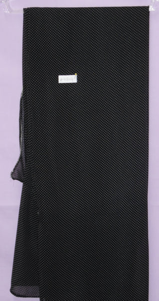 Scarf 4804 Black & White Pin Drop Square Dupatta Shawl Wrap Chunni Shieno Sarees