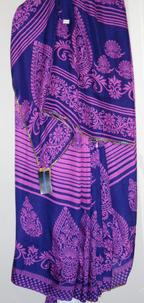 Saree 4994 Silk Crepe Georgette Printed Cocktail Sari Shieno Sarees