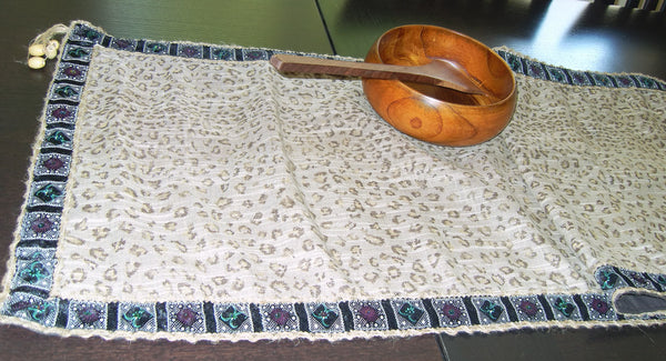 Table Runner 504 Leopard Printed Home Linen Table Runner Shieno