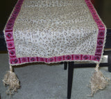 Table Runner 505 Printed Tassels Table Runner Shieno