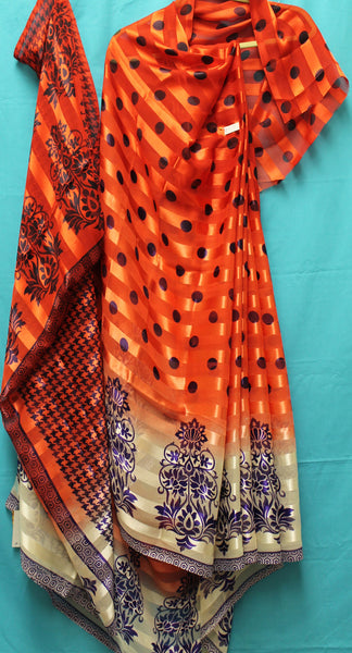 Printed Silk Saree 5091 Designer Indian Sari Choli Shieno Sarees San Francisco