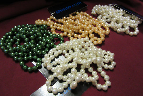 Necklace 519 Pearl Beads Strings Assorted Colors Fashion Jewelry