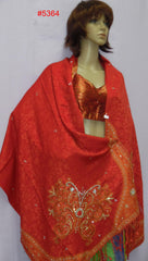 Shawl 5365 Synthetic Wool Pashmina Angora Kashmiri Shawl Wrap Shieno