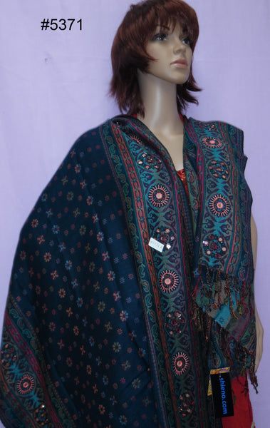 Shawl 5372 Winter Wear Pashmina Angora Kashmiri Shawl Wrap Shieno