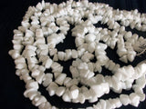 Trim 551 Ceramic Irregular White Trim Beads Craft Shieno Sarees