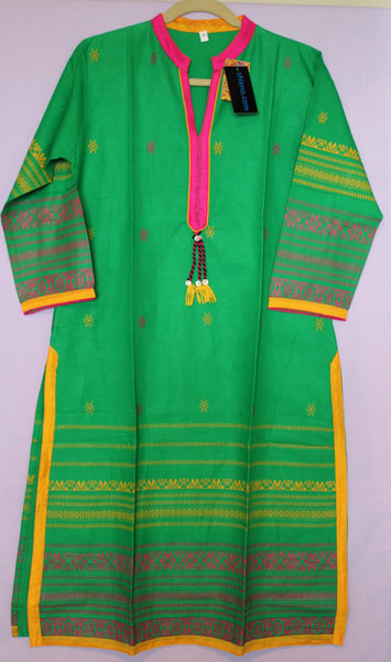 Blouse 5540 Green Cotton Kurti Large Size