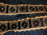 Trim 559 Lace Velvet Jute Sequin Beads Craft Shieno Sarees