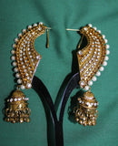 Earrings 5846 Polki Indian Jewelry Shieno Sarees