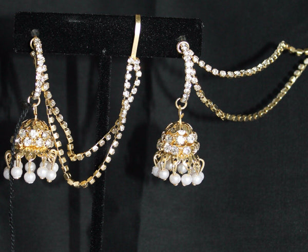 Earrings 5891 Rhinestone Ethnic Earrings Jewelry Shieno Sarees