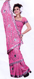 Saree 594 Pink Georgette Party Wear Sari Shieno Sarees