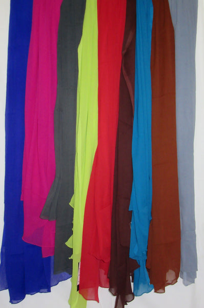 Scarf 201 Georgette Dupatta Chunni Wrap Solid Assorted Colors