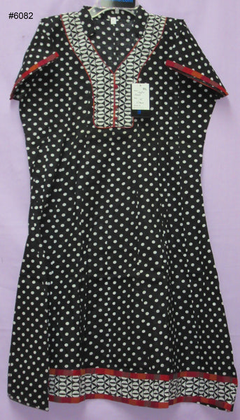 Blouse 6086 Polka Cotton Tunic Top Kurti Career Wear Shirt Large Size Shieno