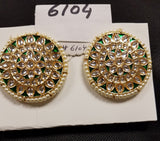 Earrings 6104 Golden Crystals Green Earrings Pair Shieno