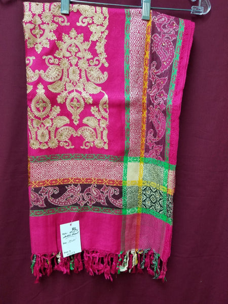 Shawl 6123 Fuchsia Pashmina Angora Winter Wear Wrap Shawl Shieno Sarees