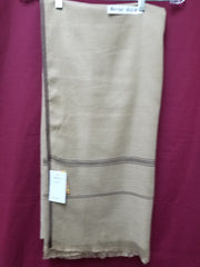 Shawl 6128 Beige Solid Ribbed Winter Wear Kashmiri Shawl Wrap