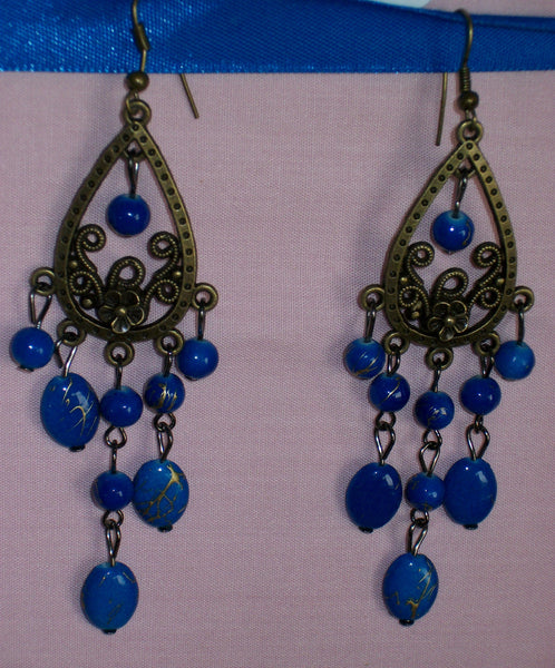Earrings 621 Sapphire Blue