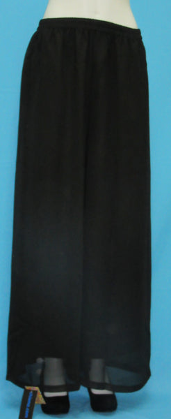 Pants 7132 Black Flair Bottom Plazo Sharara Ajar Pajama Pants Flared