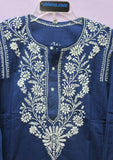 Blouse 7371 Cotton Voile Hand Embroidered Kurti Tunic Top Blouse