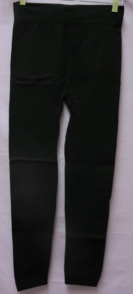 Legging 7438 Black Polyester Knitted Sexy Stretch Churidar Large Leggings Shieno