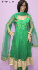 Anarkali 7719 Green Net Maskali Suit Women S M L XL XX Size Shieno Sarees