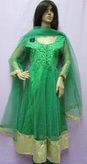 Anarkali 7806  Green Net Maskali Suit Women  XL Size Shieno Sarees