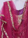 Suit 7789 Magenta Tussar Trousseau Salwar Kameez Dupatta M Bridal Wear Dress