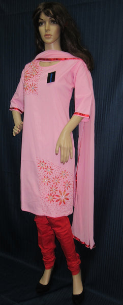 Churidar 7803 Pink Red Traditional Indian 3 Piece Suit