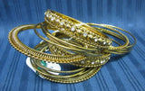 Bangles 7848 Golden Bangle Kadra Shieno Sarees