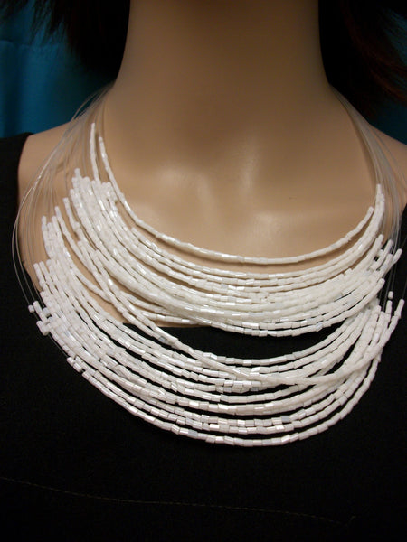 Necklace 786 Pipe Beads Necklaces Earrings Set Jewelry