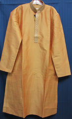 Men's 7982 Golden Orange Kurta Pajama Shieno Sarees