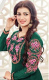 Suit 8071 Georgette Embroidered Churidar Salwar Long Kameez Dupatta XL Plus Size