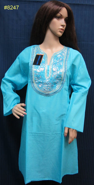 Blouse 8250 Cambric Solid Color Career Wear Large Size Kurti Tunic Top