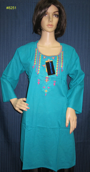 Blouse 8253 Cambric Solid Color Career Wear Kurti Tunic Top