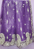 Saree 831 Net Purple Party Wear Sari Shieno Sarees