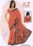 Saree 835 Pink Georgette Party Wear Embroidered Sari Shieno Sarees
