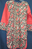 Blouse 8613 Cotton Printed Embroidered Career Wear Juniors Small Size Kurti