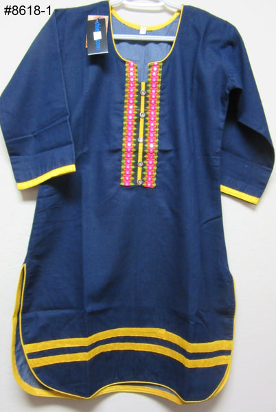 Blouse 8619 Cotton Embroidered Career Wear Small Size Kurti