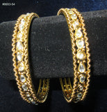 Bangles 8654 Golden Indian Set of Kadra and Bangles